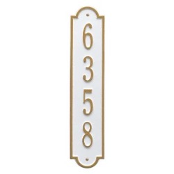 Address Plaque 4 x 19 inch Standard Wall Aluminum- Richmond Vertical- One Line