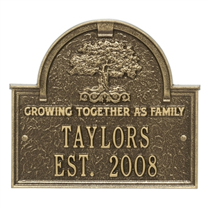 Family Tree Anniversary Wedding Personalized Plaque