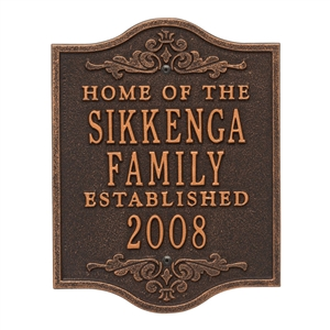 Buena Vista Anniversary Wedding Personalized Plaque