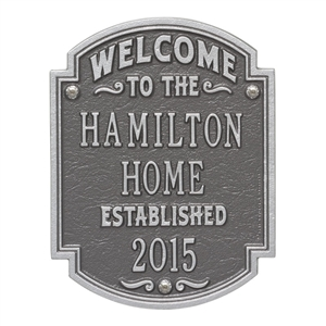 Heritage Welcome Anniversary Personalized Plaque