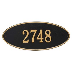 Address Plaque 24.5 x 10.375 inch Estate Wall Madison Oval Aluminum- One Line
