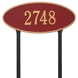 Address Plaque 24.5 x 10.375 inch Estate Lawn Madison Oval Aluminum- One Line