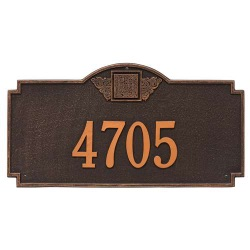Address Plaque 23.25 x 12.25 inch Monogram Estate Wall Aluminum- One Line