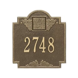 Address Plaque 10.75 x 11.75 inch Monogram Standard Wall Aluminum- One Line