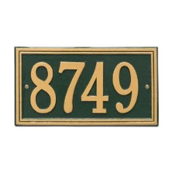Address Plaque 13 x 7.25 inch Standard Wall Aluminum- One Line
