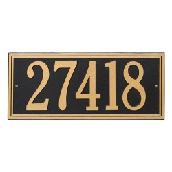 Address Plaque 23.25 x 9.5 inch Estate Wall Aluminum- One Line