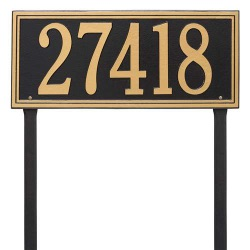 Address Plaque 23.25 x 9.5 inch Estate Lawn Aluminum- One Line