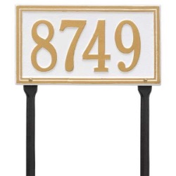 Address Plaque 13 x 7.25 inch Standard Lawn Aluminum- One Line