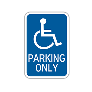 "12"" x 18"" Handicap Parking Traffic Sign"
