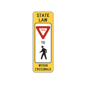 "12"" x 36"" In-Street Yield Pedestrian Crossing"