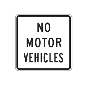 "24"" No Motor Vehicles"