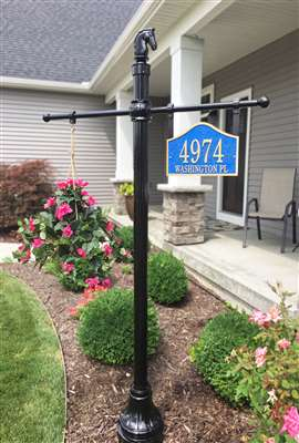 Address Plaque Post