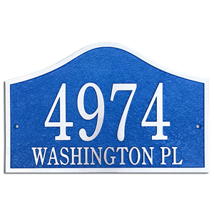 "Address Plaque 14"" x 9""  Bell- Cast Aluminum"