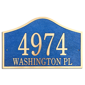 "Address Plaque 14"" x 9"" Bell -Cast Bronze"