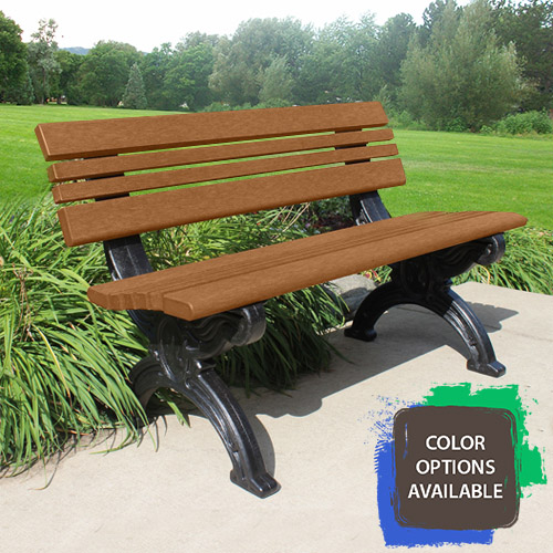 4ft Cambridge Recycled Park Bench