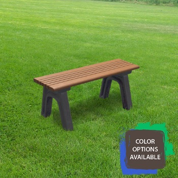 4ft Cambridge Flat Recycled Park Bench