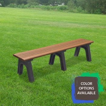 6ft Cambridge Flat Recycled Park Bench