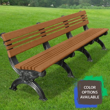 8ft Cambridge Recycled Park Bench