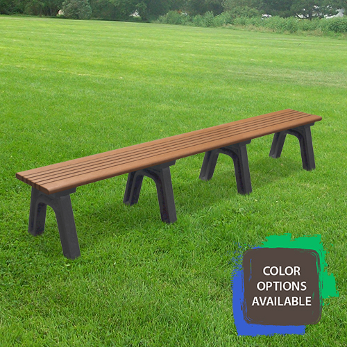 8ft Cambridge Flat Recycled Park Bench