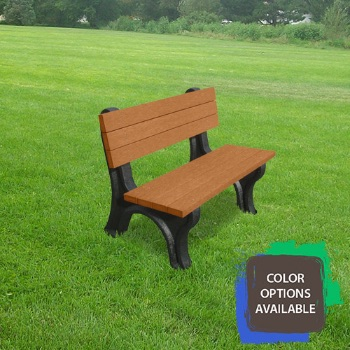 4ft Deluxe Recycled Park Bench
