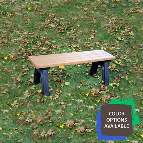 4ft Deluxe Flat Recycled Park Bench