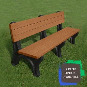 6ft Deluxe Recycled Park Bench