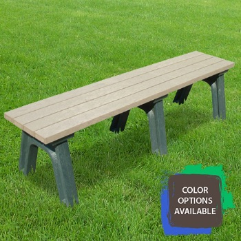 6ft Deluxe Flat Recycled Park Bench