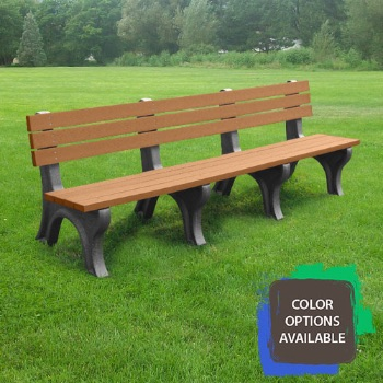 8ft Deluxe Recycled Park Bench