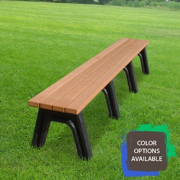 8ft Deluxe Flat Recycled Park Bench