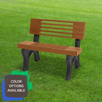 4ft Elite Recycled Park Bench