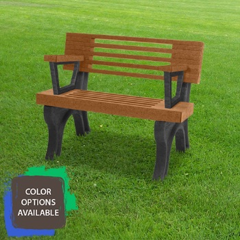 4ft Elite Recycled Park Bench with arms