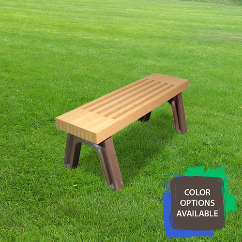4ft Elite Flat Recycled Park Bench