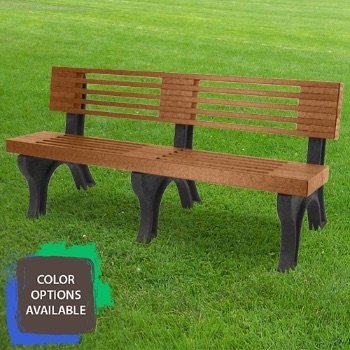 6ft Elite Recycled Park Bench