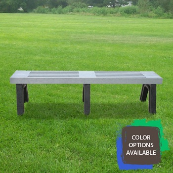 6ft Elite Flat Recycled Park Bench