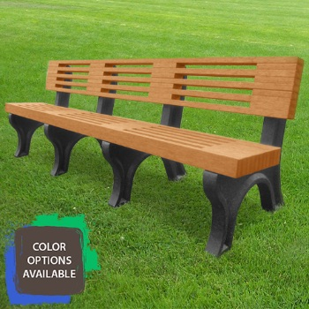 8ft Elite Recycled Park Bench