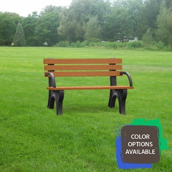 4ft Economizer Recycled Park Bench with arms