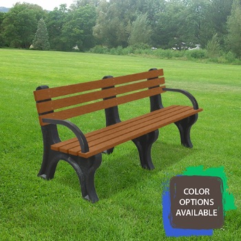 6ft Economizer Recycled Park Bench with arms