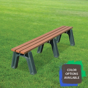 6ft Economizer Flat Recycled Park Bench