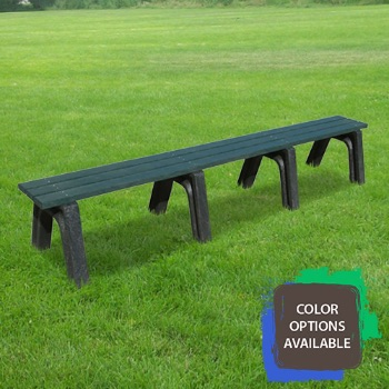 8ft Economizer Flat Recycled Park Bench