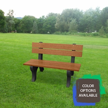 4ft Economizer Traditional Recycled Park Bench