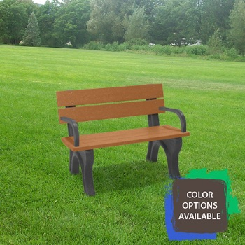 4ft Economizer Traditional Recycled Park Bench with arms