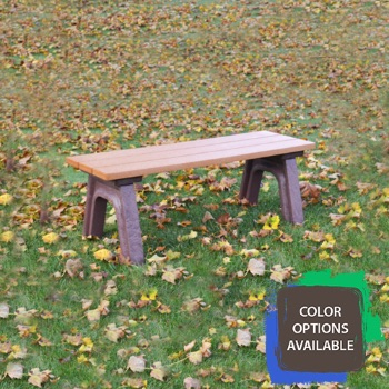 4ft Economizer Traditional Flat Recycled Park Bench