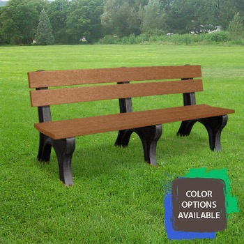 6ft Economizer Traditional Recycled Park Bench
