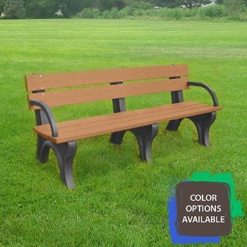 6ft Economizer Traditional Recycled Park Bench with arms