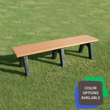 6ft Economizer Traditional Flat Recycled Park Bench