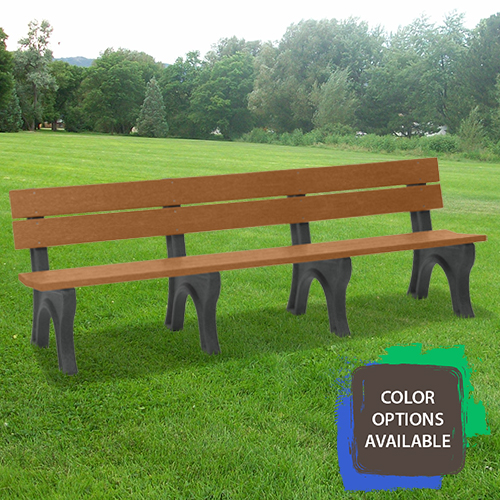 8ft Economizer Traditional Recycled Park Bench