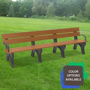 8ft Economizer Traditional Recycled Park Bench with arms
