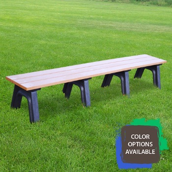 8ft Economizer Traditional Flat Recycled Park Bench