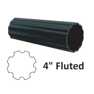 "4"" Diameter Fluted Aluminum Post"