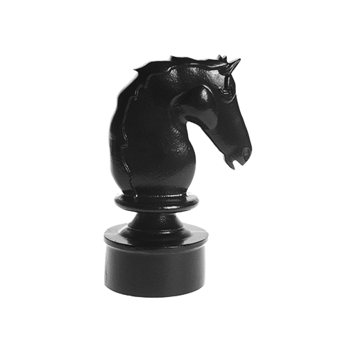 Horse Head - Cast Aluminum Finial